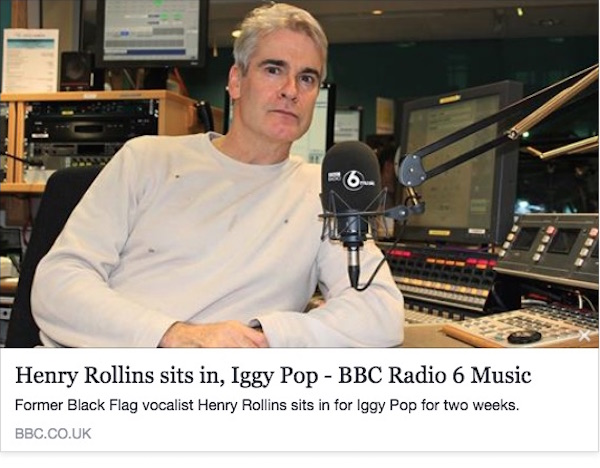 Henry Rollins, Iggy Pop - BBC Radio 6 Music